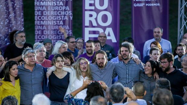 Pablo Iglesias, en un mitin en Madrid