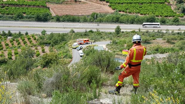 Imagen del rescate en Algimia