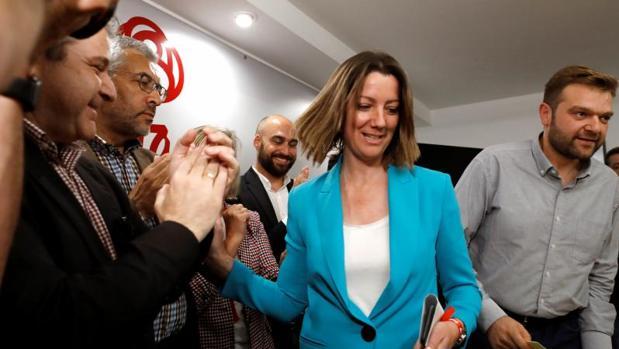 Lara Méndez, durante la nohce electoral