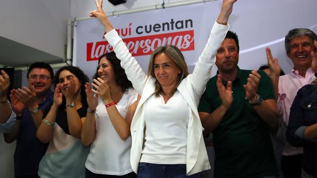 MIlagros Tolón, celebrando su victoria