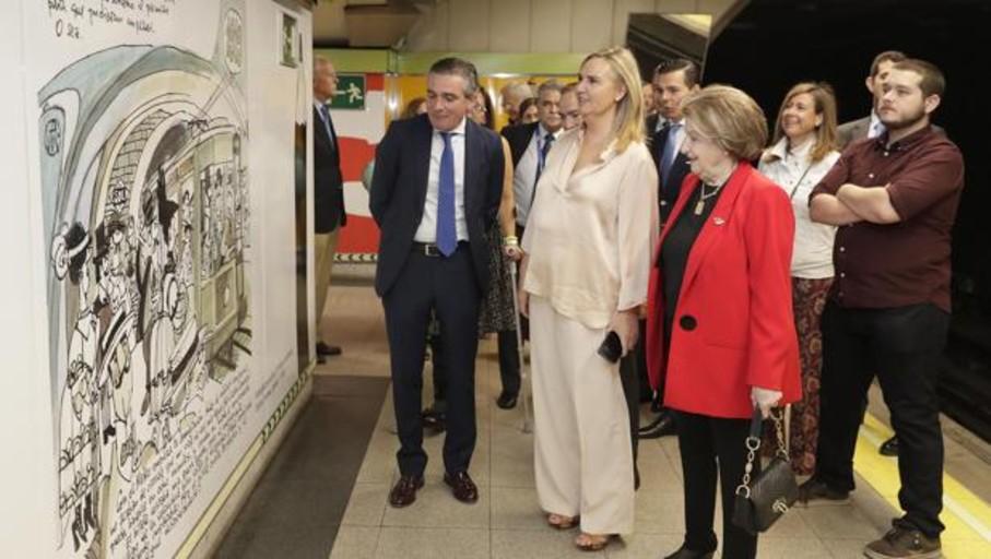 Las viñetas de Mingote ya están en el Metro de Rubén Darío