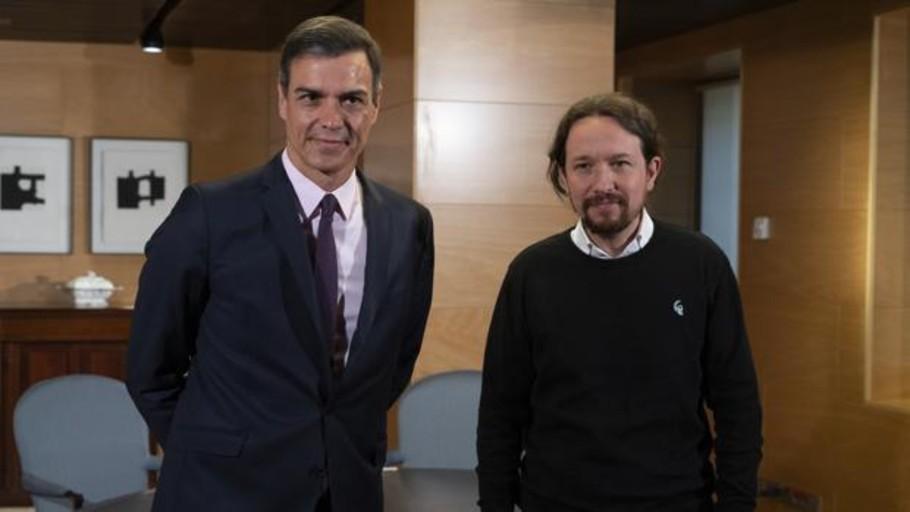 Sánchez recibe esta tarde a Iglesias en La Moncloa para buscar su apoyo en la investidura