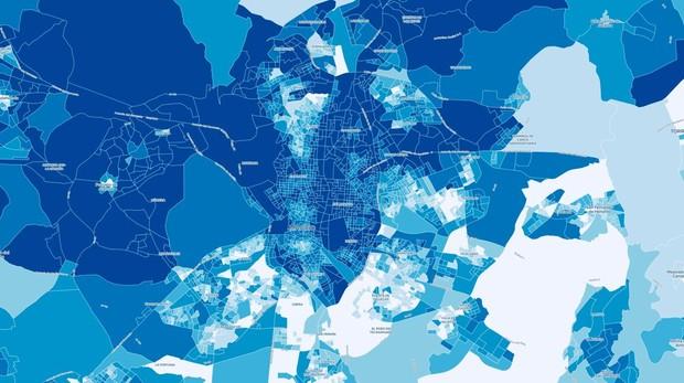 ¿Cuánto dinero gana tu vecino? El mapa de la renta en Madrid, calle a calle