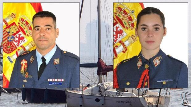 Mueren el instructor y la alumna en un accidente de una avioneta del Ejército del Aire en el Mar Menor