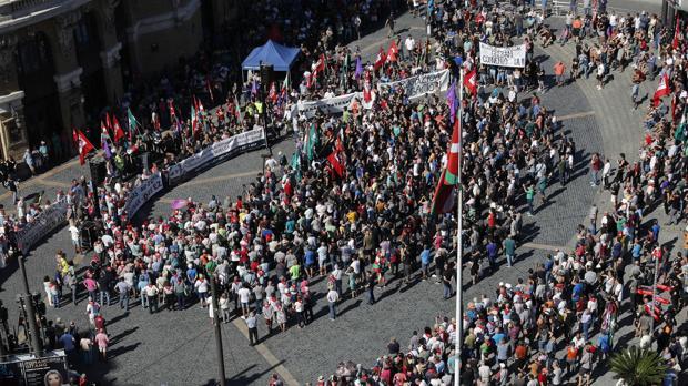 Los trabajadores del Metal vizcaíno toman Bilbao para exigir mejoras laborales