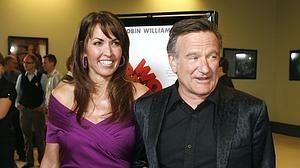 Susan Schneider y Robin Williams