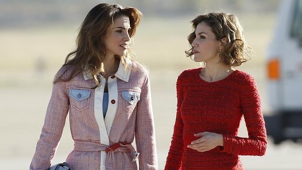 Rania de Jordania y la Reina Doña Letizia