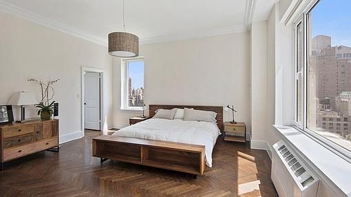 Uno de los dos dormitorios que tiene la propuedad
