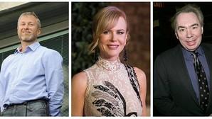 Roman Abramovich, Nicole Kidman y Andrew Lloyd-Weber