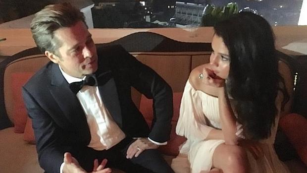 La foto de Brad Pitt coqueteando con Selena Gomez que enfureció a Angelina Jolie