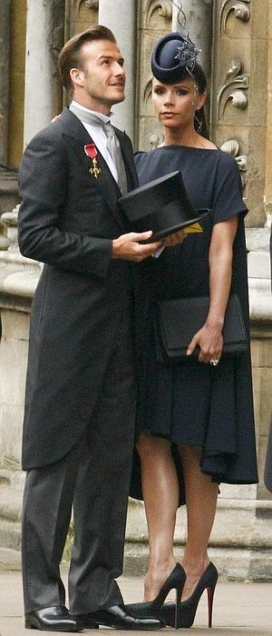 Junto a su marido en la boda real inglesa, en 2011