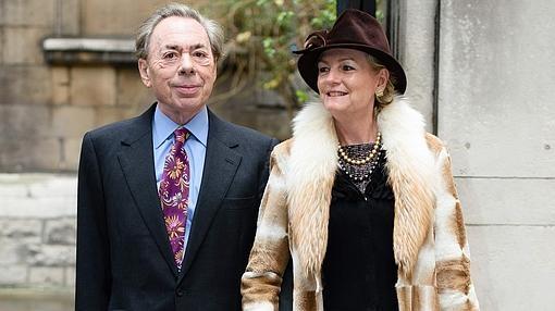 Andrew Lloyd Webber y su esposa, Madeleine Gurdon