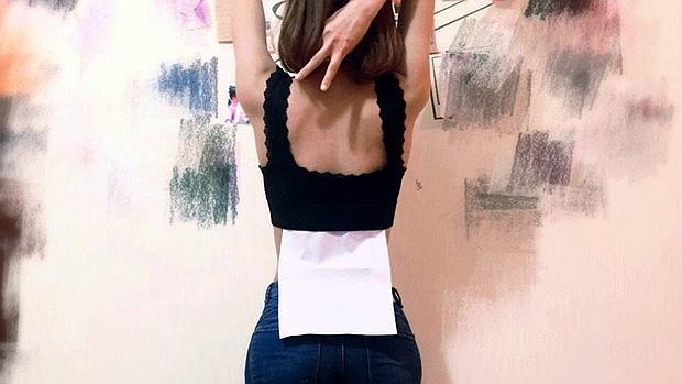 Una de las imágenes publicadas en las redes sociales sobre esta moda