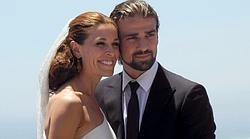 La pareja el día de su boda