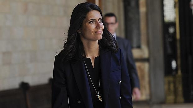 María Castiella en el Palacio de la Generalitat,