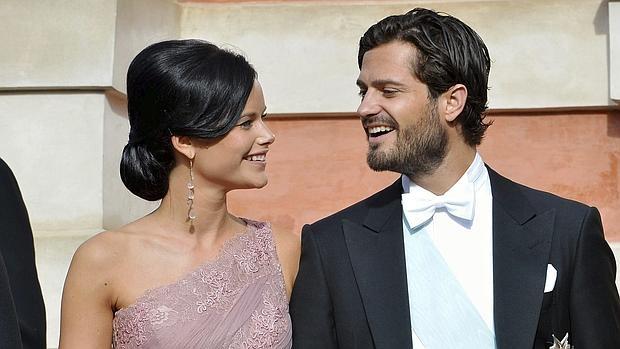 Los Príncipes Sofía y Carlos Felipe en una imagen de 2014