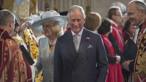 El Príncipe de Gales y su esposa, Camila de Cornualles
