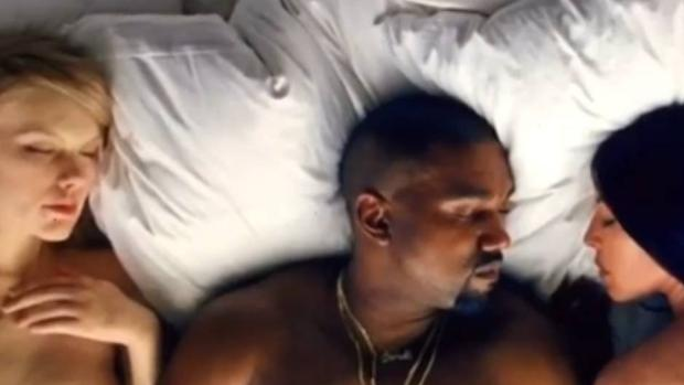 Kanye West «desnuda» a Donald Trump y Taylor Swift en su último vídeo