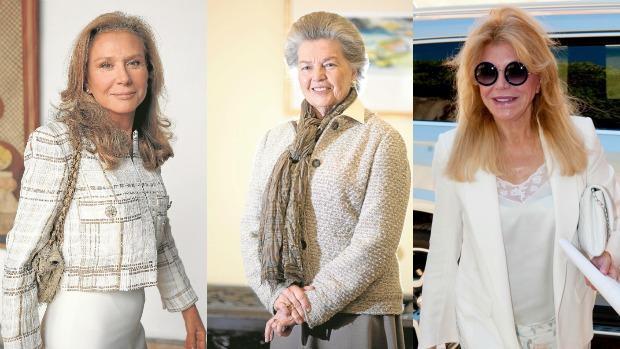 Alicia Koplowitz, Ana de Francia y Carmen Thyssen