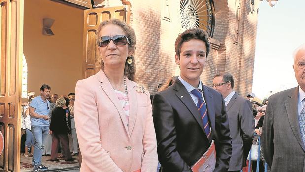 Felipe con su madre, Doña Elena, el pasado mes de junio