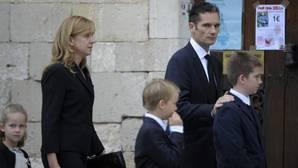 La Infanta Cristina e Iñaki Urdangarín vuelven a Madrid por un funeral
