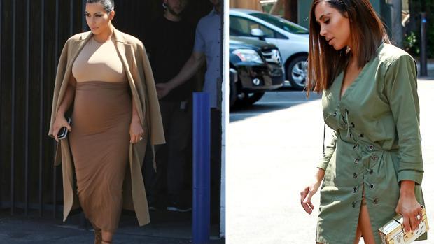 Kim Kardashiam antes y después del ambarazo de su segundo hijo