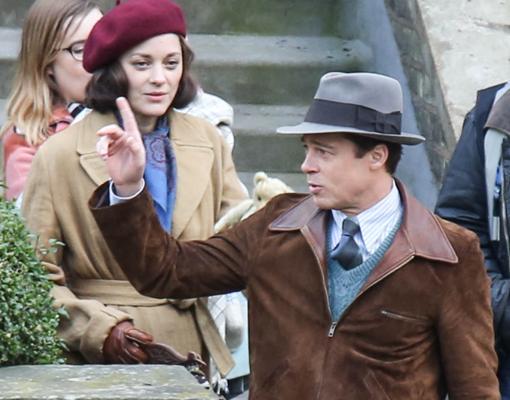 Marion y Brad en la película