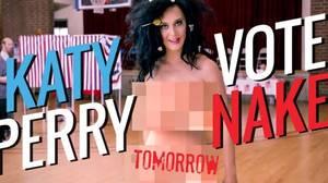 Katy Perry se desnuda en apoyo a Hillary Clinton