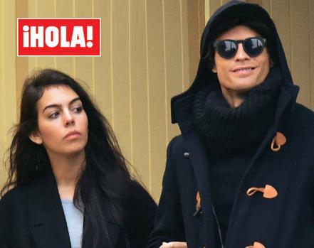 Georgina Rodríguez junto a Cristiano Ronaldo en París