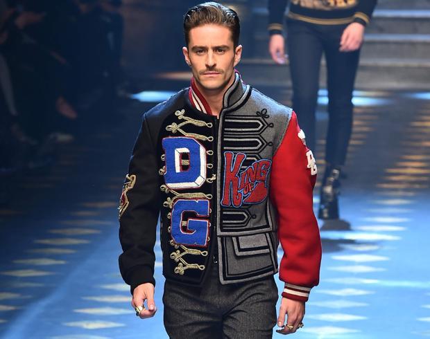 Pelayo Díaz en el desfile de Dolce & Gabbana
