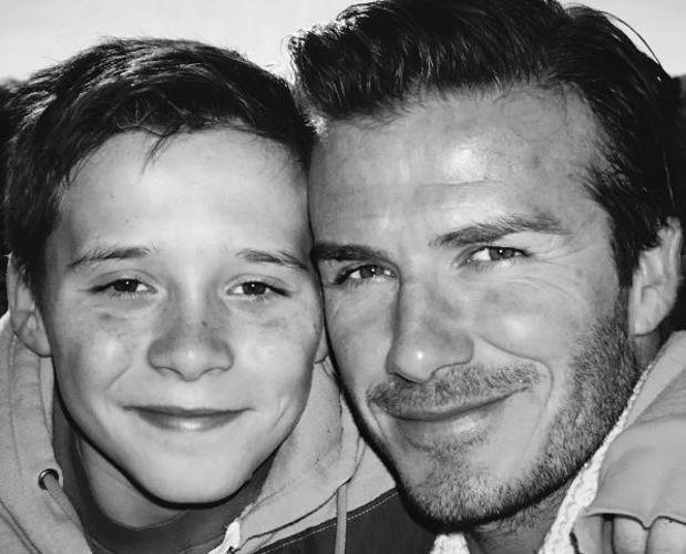 Instagram:  David Beckham vacila a su hijo en Instagram