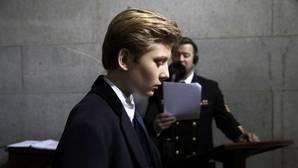 El pequeño Barron llega al Capitolio, en Washington, el pasado 20 de enero
