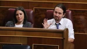Irene Montero y Pablo Iglesias, este martes en el Congreso de los Diputados