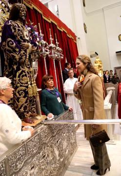Инфанта Элена посетила Церковь Иисуса Христа Мединасели Монаршие Дома
