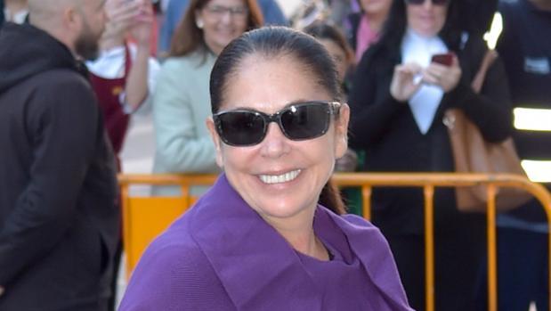 Isabel Pantoja, en la presentación de su disco