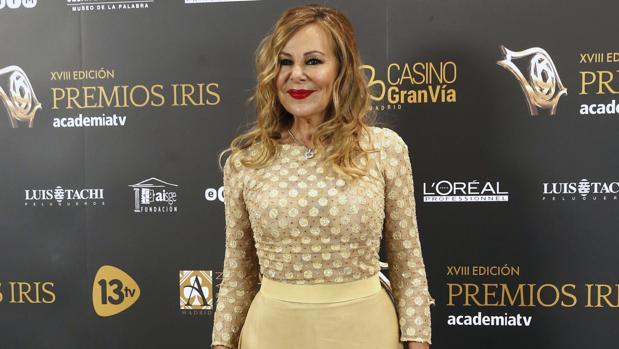 La actriz Ana Obregón a su llegada a la gala de los premios Iris de televisión el pasado mes de noviembre
