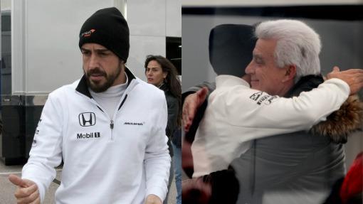 Fernando Alonso y su padre, José Luis Alonso