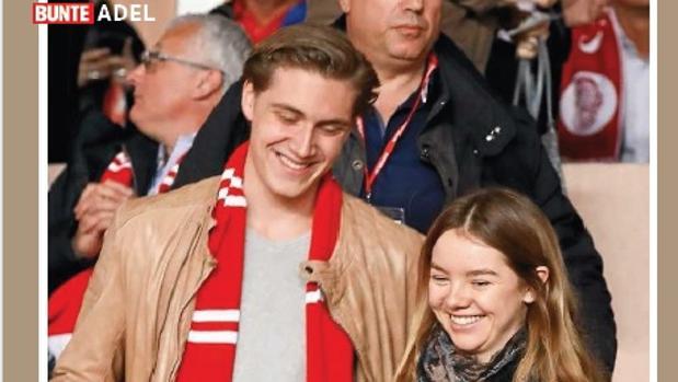Ben Strautmann y Alexandra de Hannover el pasado 15 de marzo. Imagen publicada por la revista «Bunte»