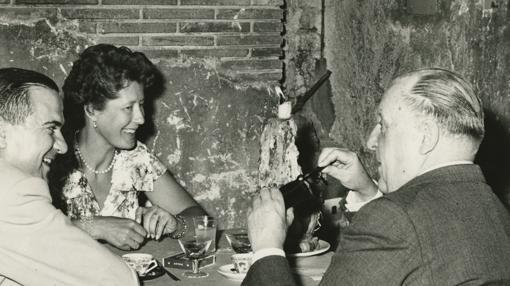 El matrimonio en Roma, en 1960, con Antonio Guerrero