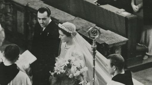 Boda de Doña Alicia con el Infante Alfonso de Borbón en 1936