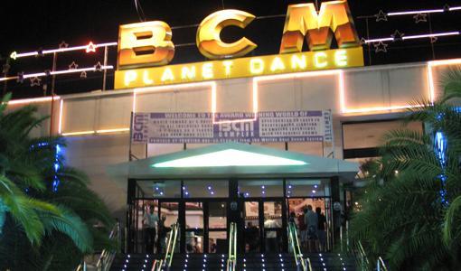 Entrada de BCM, popular discoteca de Magaluf
