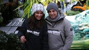 Paula Echevarría y David Bustamante, durante la cabalgata de los Reyes Magos en 2016