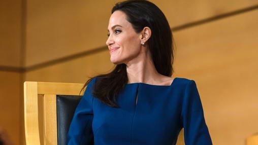 Angelina Jolie en Ginebra, a mediados de marzo
