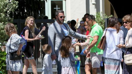 Ben Affleck, junto a sus hijos
