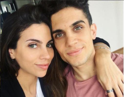 Melissa Jiménez y Marc Bartra