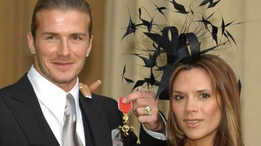 En 2003 David Beckham recibió la condecoración al ser capitán de la selección inglesa de fútbol