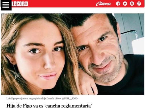 Una foto del futbolista junto a su hija abre el polémico artículo