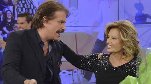 María Teresa Campos y Bigote Arrocet