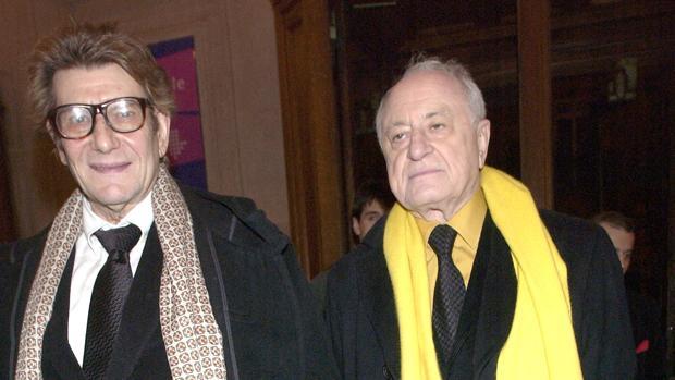 Pierre Bergé, junto a su expareja de Yves Saint Laurent