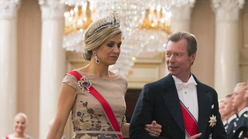 Máxima de Holanda, con el Gran Duque de Luxemburgo, Enrique